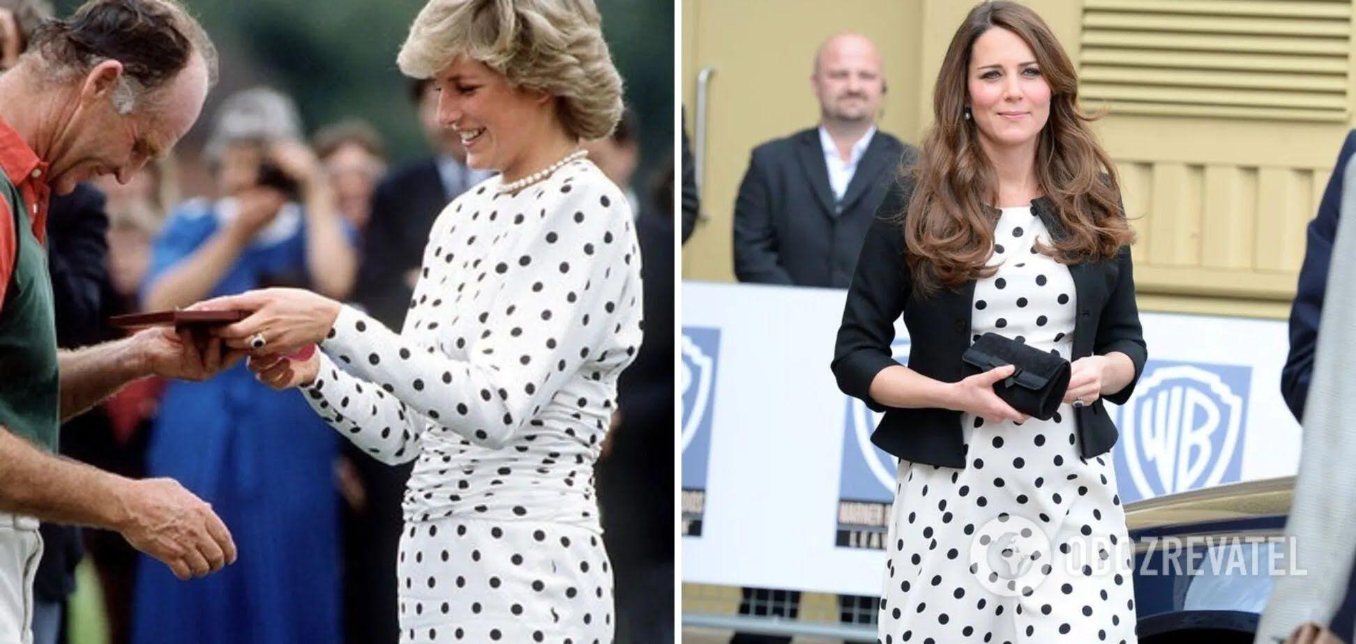 Кейт Міддлтон скопіювала сукню принцеси Діани.