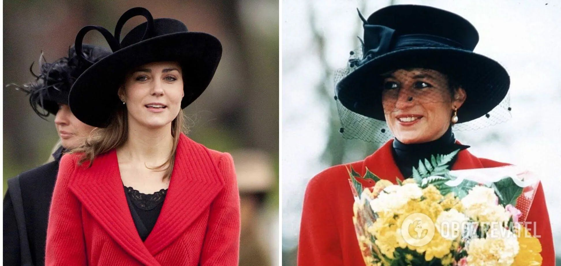 Кейт Міддлтон і принцеса Діана обожнювали одягати червоне пальто.