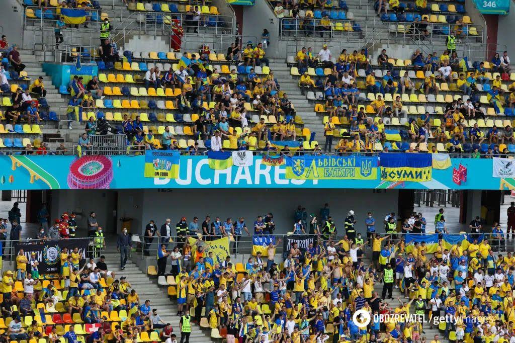 Українці підтримали збірну в Румунії.