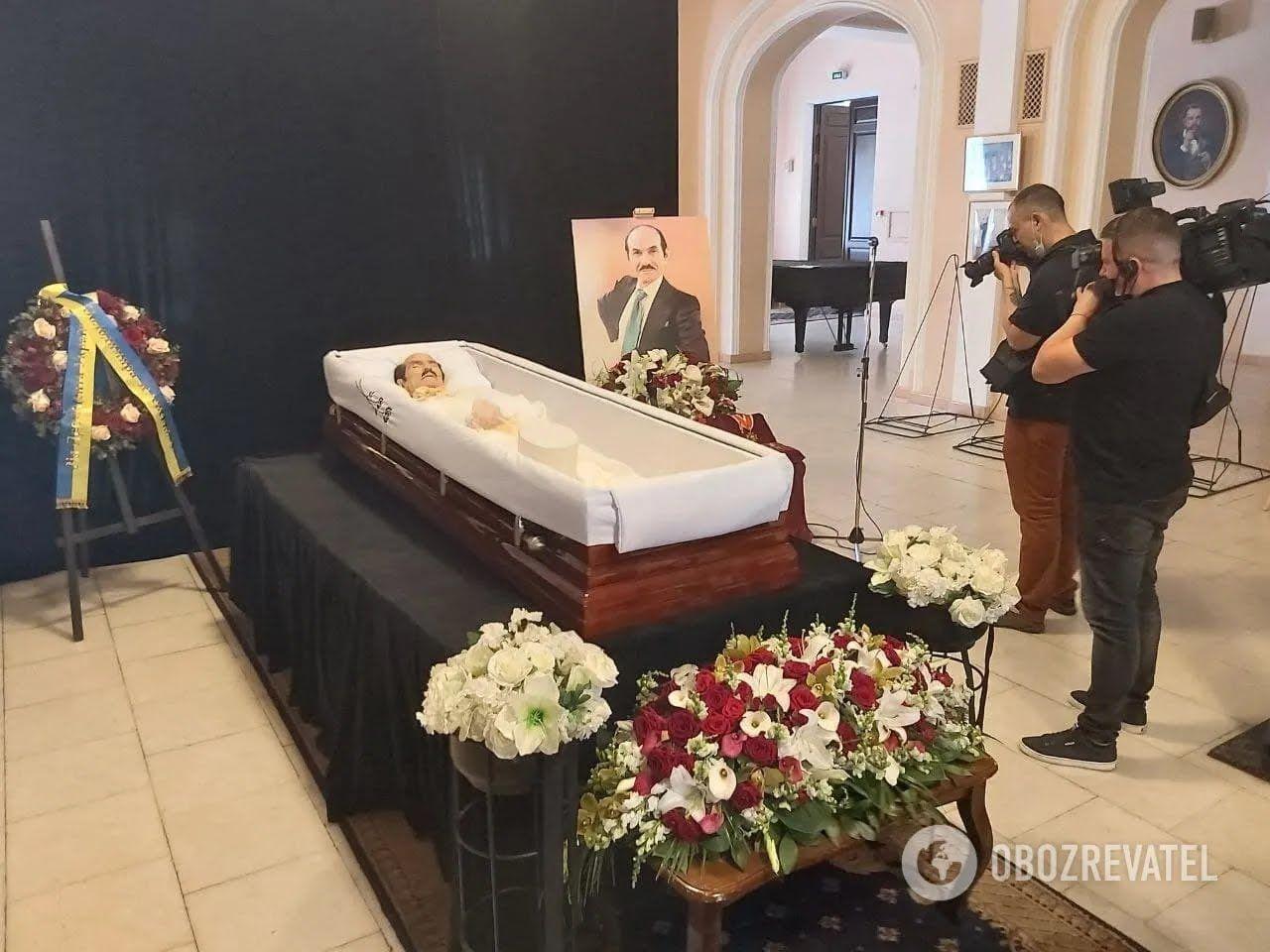 Григорий Чапкис в гробу