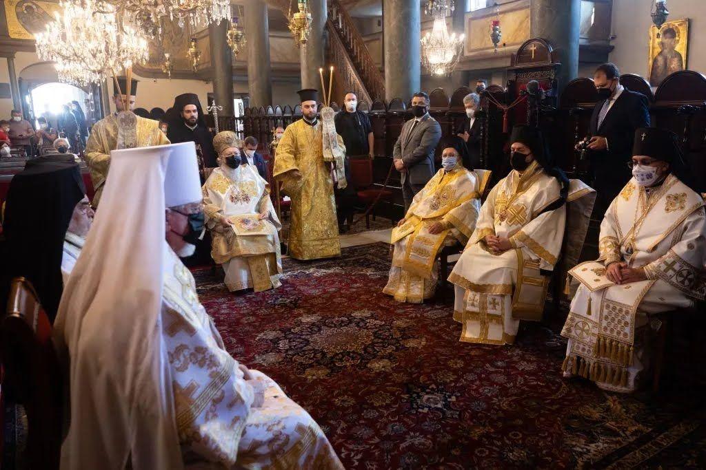 Литургию возглавил Вселенский Патриарх Варфоломей