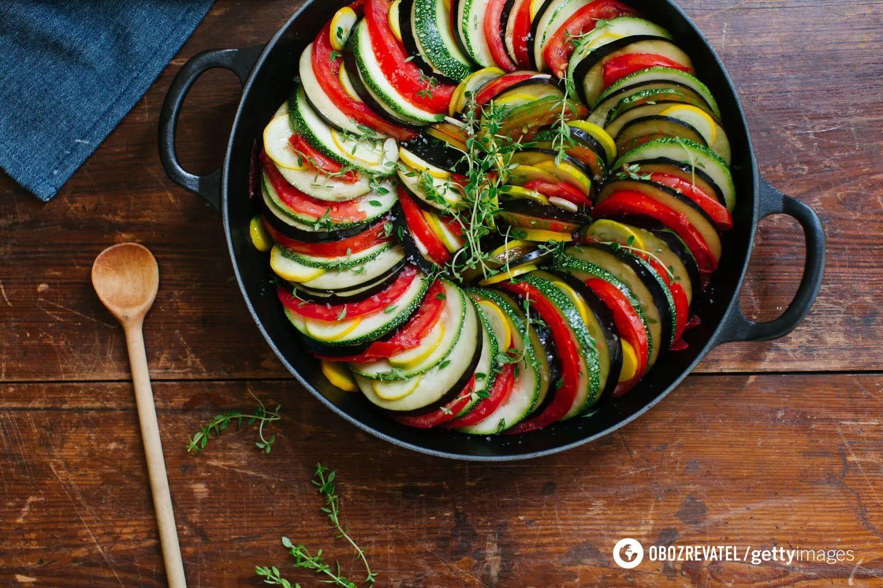 Смачний рататуй з овочів