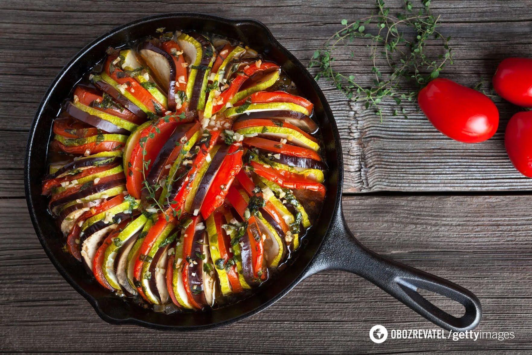 Рататуй з фаршем і овочами