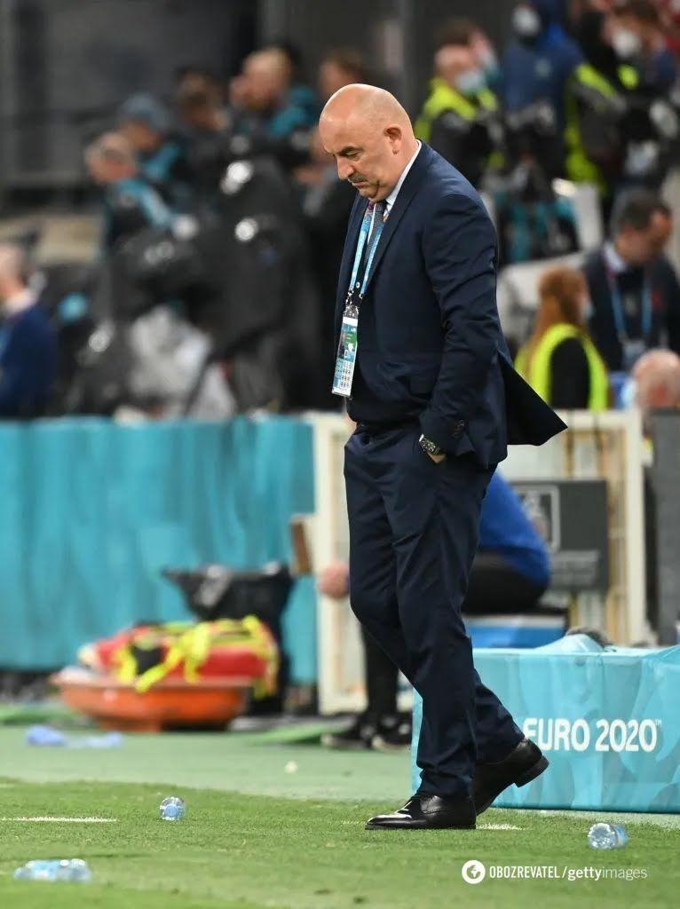 Станислав Черчесов расстроен вторым разгромным поражением на Евро-2020.