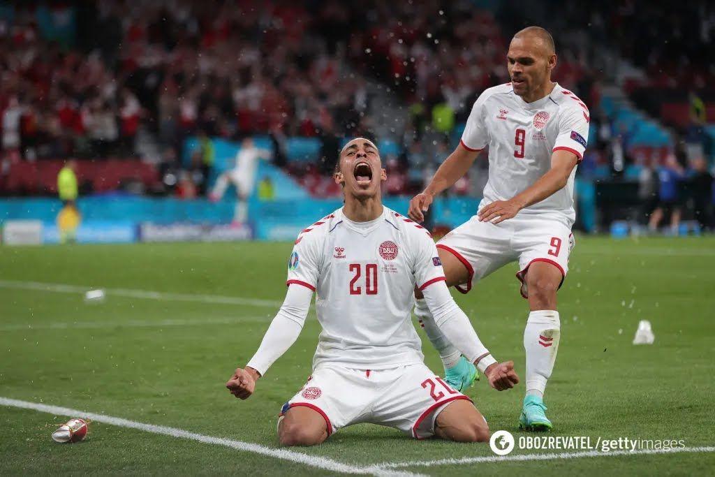 Юссуф Поульсен забив другий гол Данії в матчі з Росією.