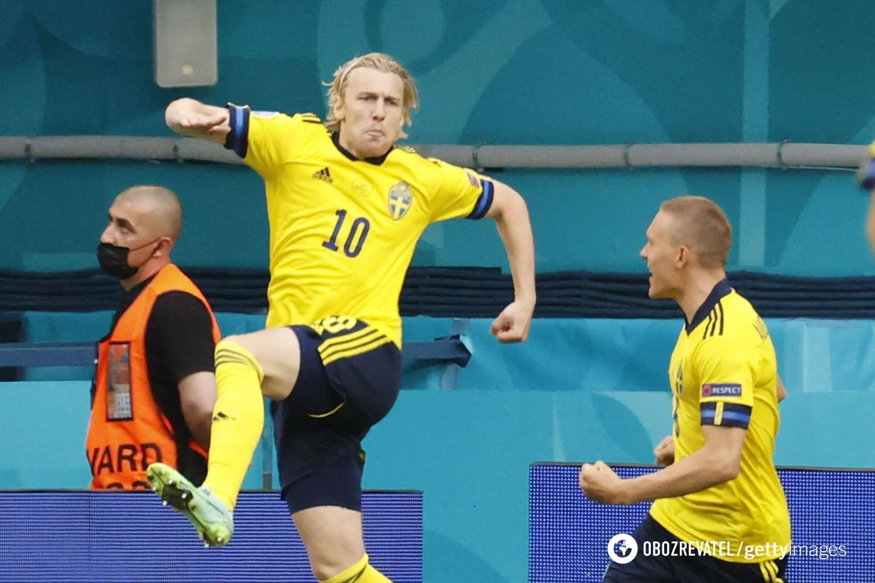 Швед Еміль Форсберг двічі забив Польщі.