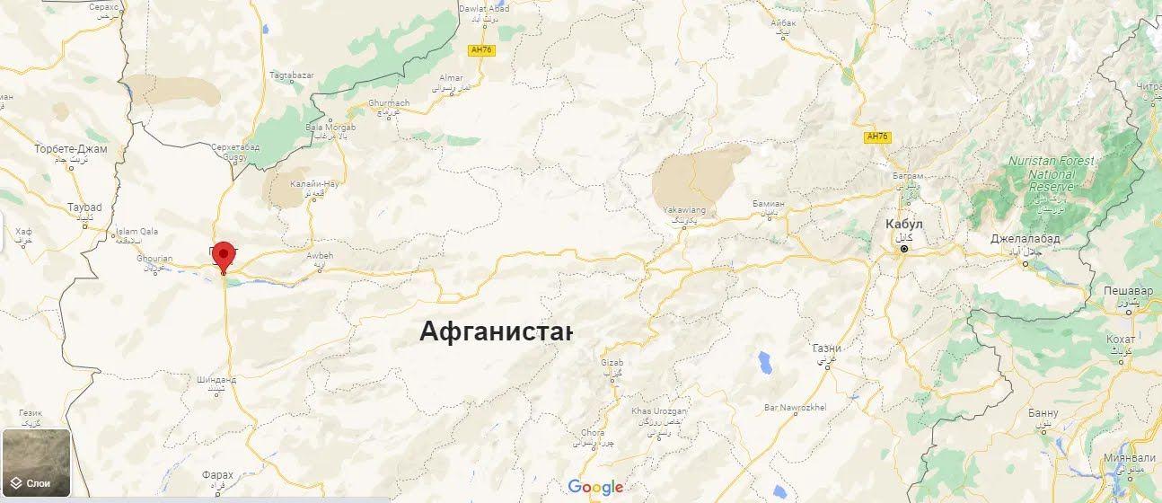 Герат расположен на северо-западе Афганистана