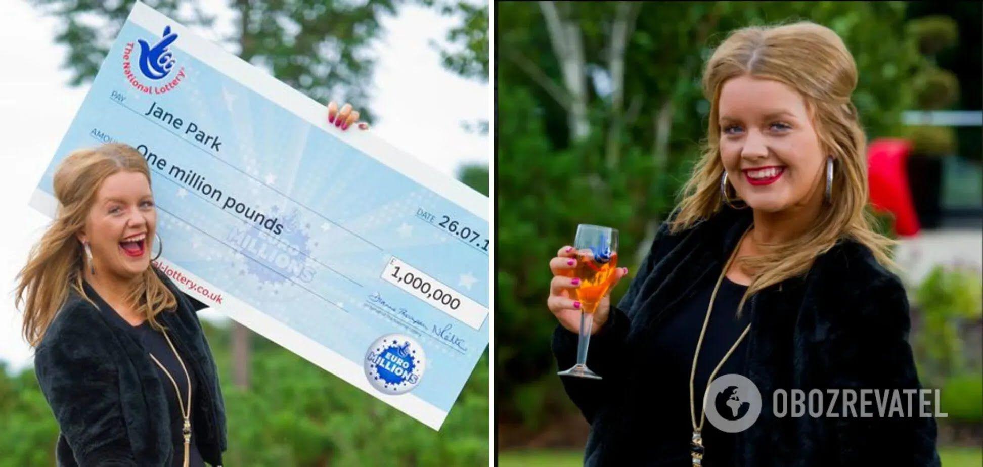 Джейн Парк в 2013 році виграла мільйон фунтів