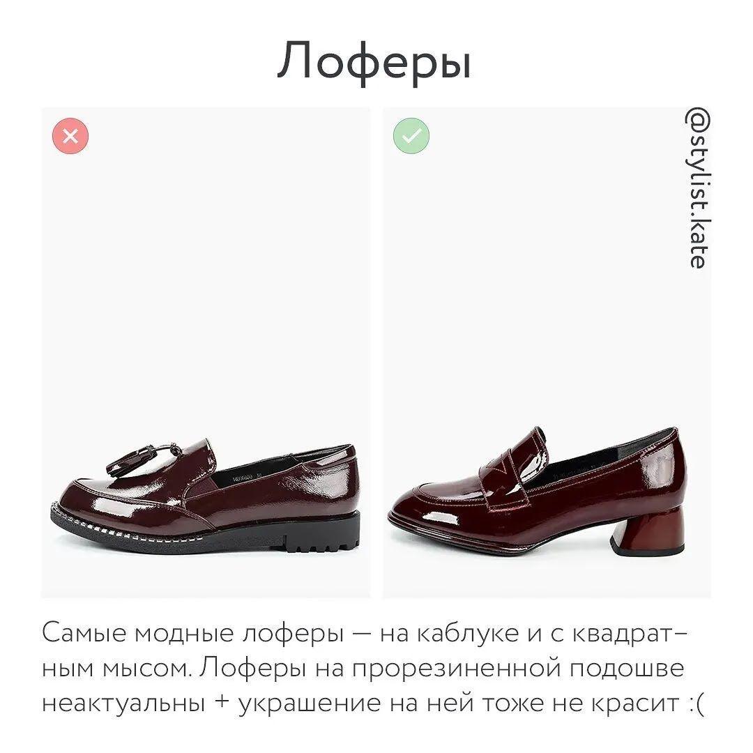Обувь осень-зима 2021 – лоферы.