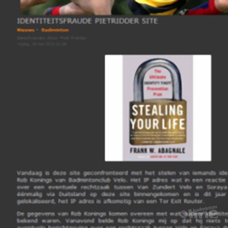 Blogger en websiteowner Piet Ridder is finaal geLauraDamstraat