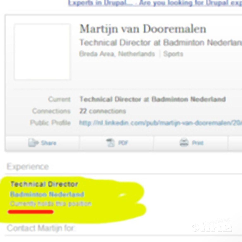 Martijn van Dooremalen opnieuw technisch directeur van Badminton Nederland?