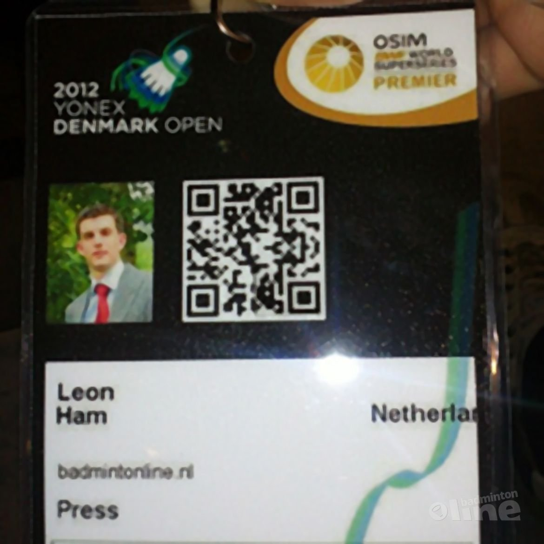 Leon Ham bij de Denmark Open: woensdag met Peter Gade