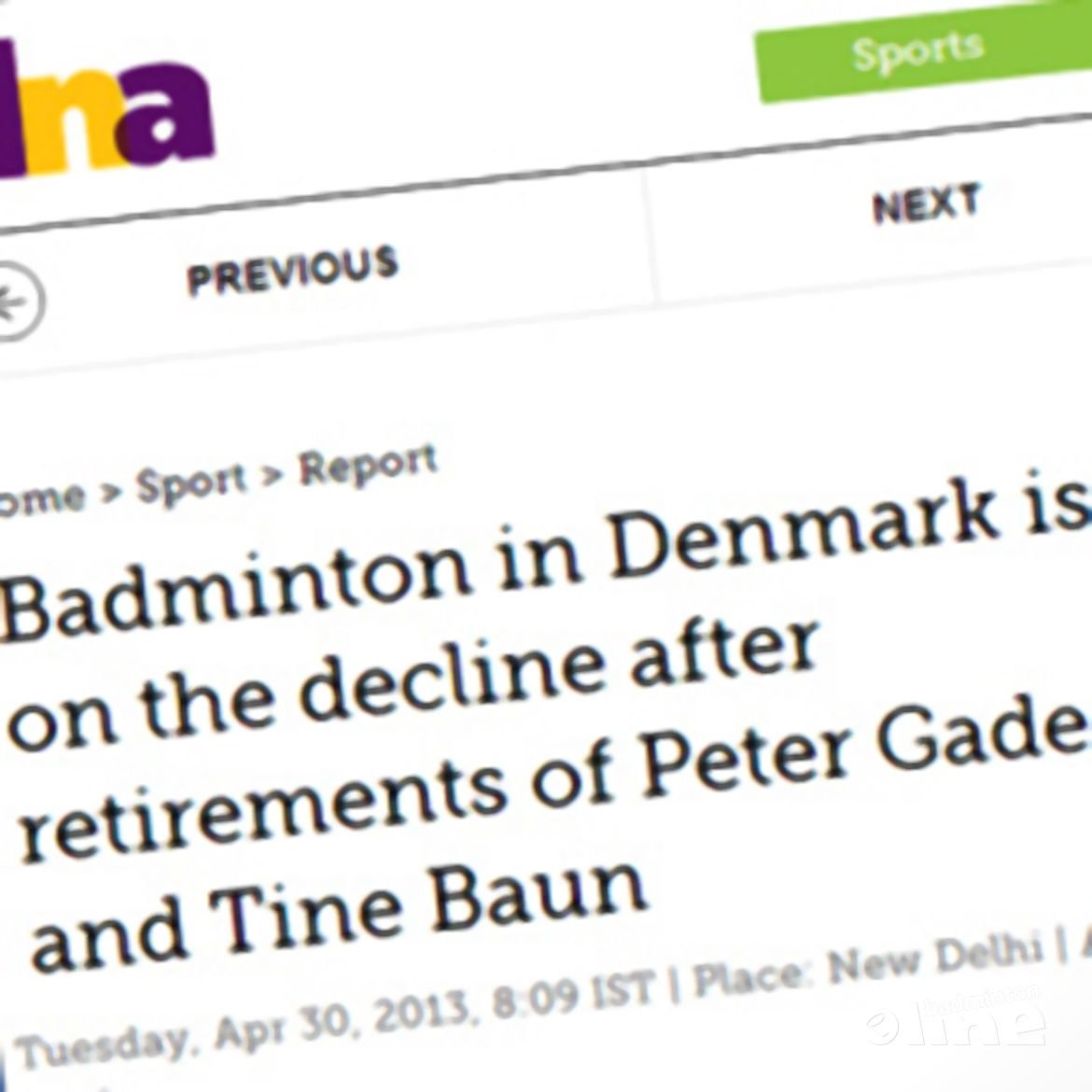 DNA: 'Badminton in Denmark is on the decline after retirements of Peter Gade and Tine Baun'