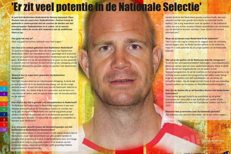 Interview met Claus Poulsen als supervisor topbadminton