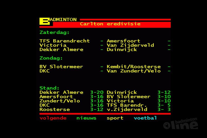 Almere zaterdag tegen Duinwijck