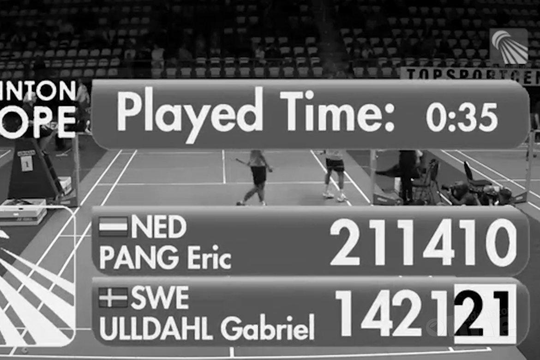 Uhldall klopt titelverdediger Eric Pang op Yonex Dutch Open
