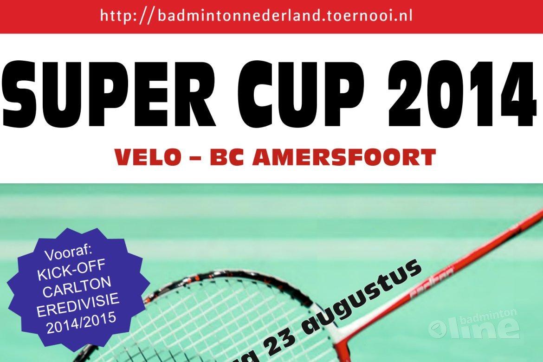 Introductie Super Cup 2014 tijdens Kick-off Carlton Eredivisie 2014-2015 in Wateringen