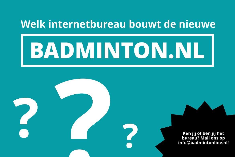 (UPDATE - 16:45u) Tienduizenden euro's voor onbekend internetbureau om nieuwe badminton.nl te bouwen
