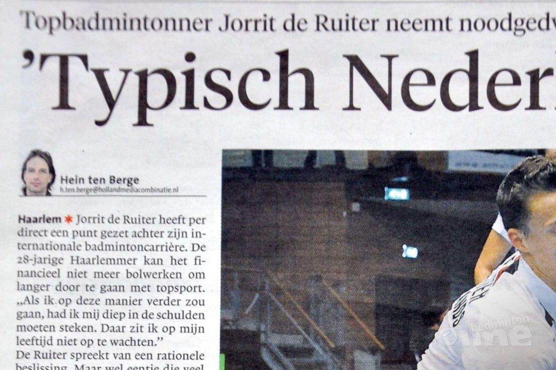 Dure hotelkamers reden van einde topsportcarrière Jorrit de Ruiter?