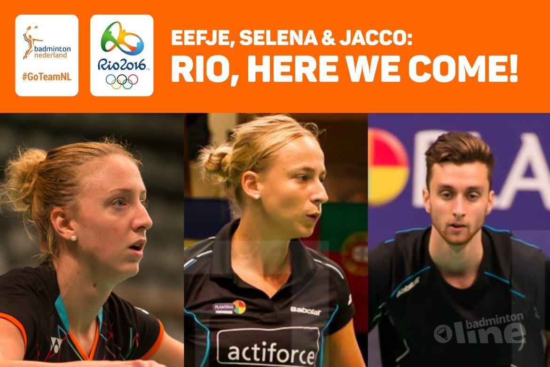 Teampresentatie Olympisch #TeamNL Rio 2016 met Jacco, Eefje en Selena