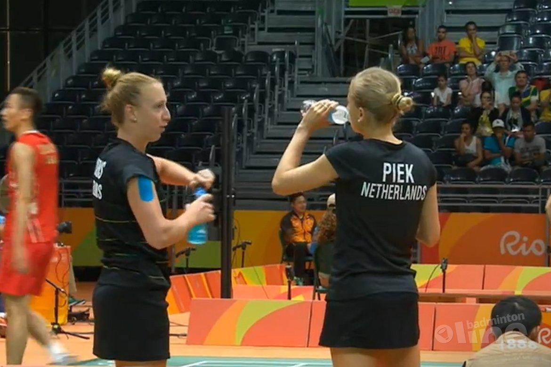 Dubbelkoppel Eefje Muskens / Selena Piek uitgeschakeld in kwartfinale Rio 2016