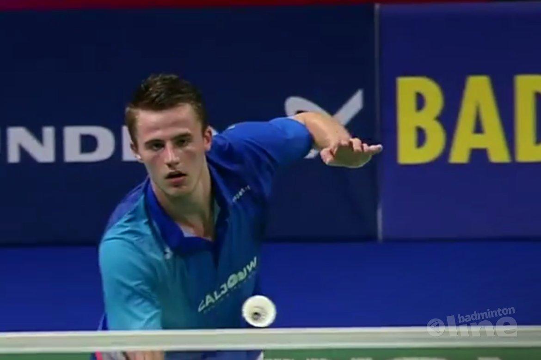 Mark Caljouw op karakter naar kwartfinales NK Badminton 2018