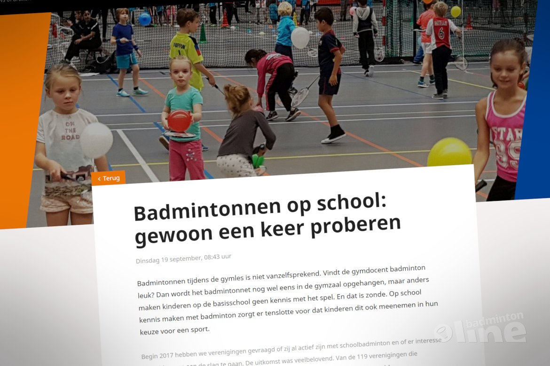 Badmintonnen op school: gewoon een keer proberen!