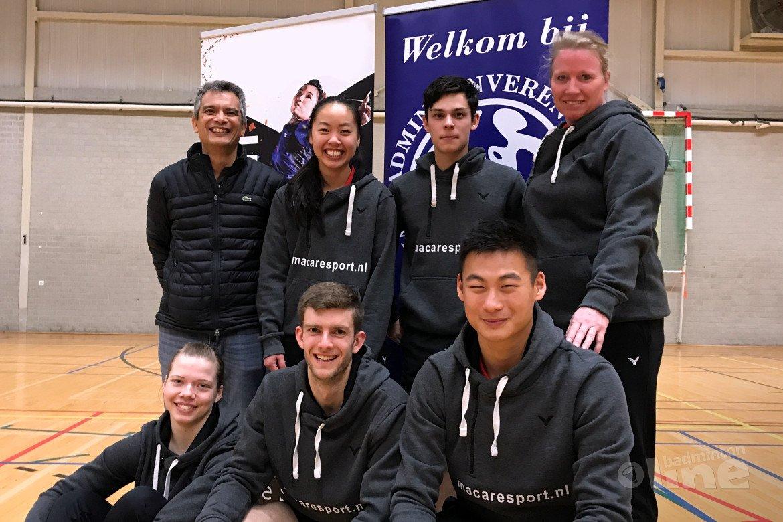Amstelveense badmintonclub Van Zijderveld handhaaft plaats in Nederlandse Badminton Eredivisie