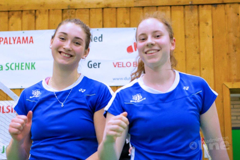 Debora Jille en Imke van der Aar onderuit in halve finale Dutch International