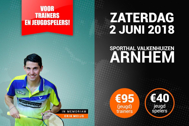 Unieke badmintonworkshops voor jeugdspelers en trainers op zaterdag 2 juni in Arnhem