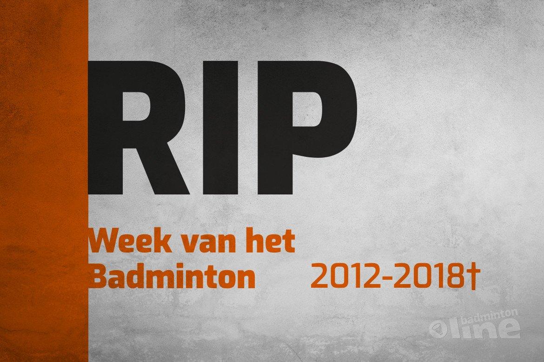 Ledenwerf-initiatief Week van het Badminton is verleden tijd