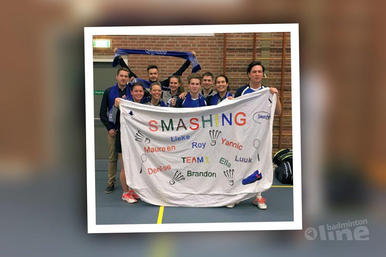 Smashing zegeviert in slotronde Nederlandse Badminton Eredivisie