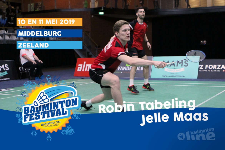 Topbadmintonners Robin Tabeling en Jelle Maas bij Outdoor Badminton Festival in Middelburg!