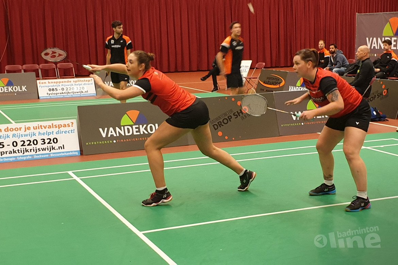 Teleurstellende start in kampioenspoule Nederlandse Badminton Eredivisie voor Drop Shot