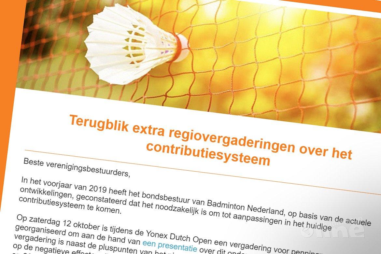 Verenigingen vragen zich af: wat doet Badminton Nederland voor ons?