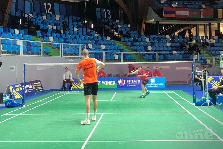 Luxemburg onderuit tegen Nederlandse mannenploeg tijdens EK Badminton