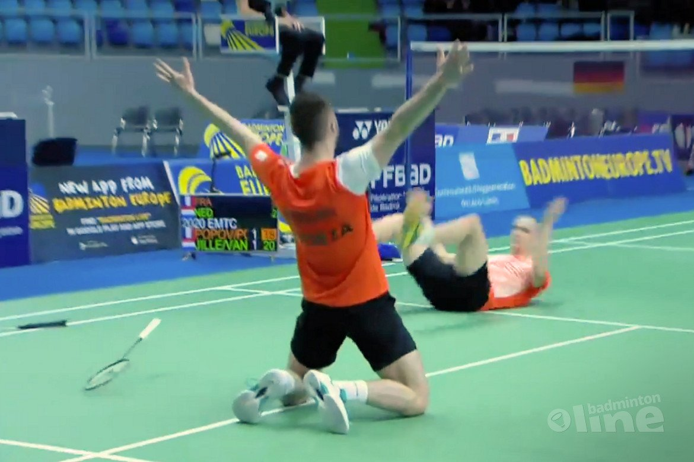 Nederlandse badmintonmannen halen finale EK Badminton