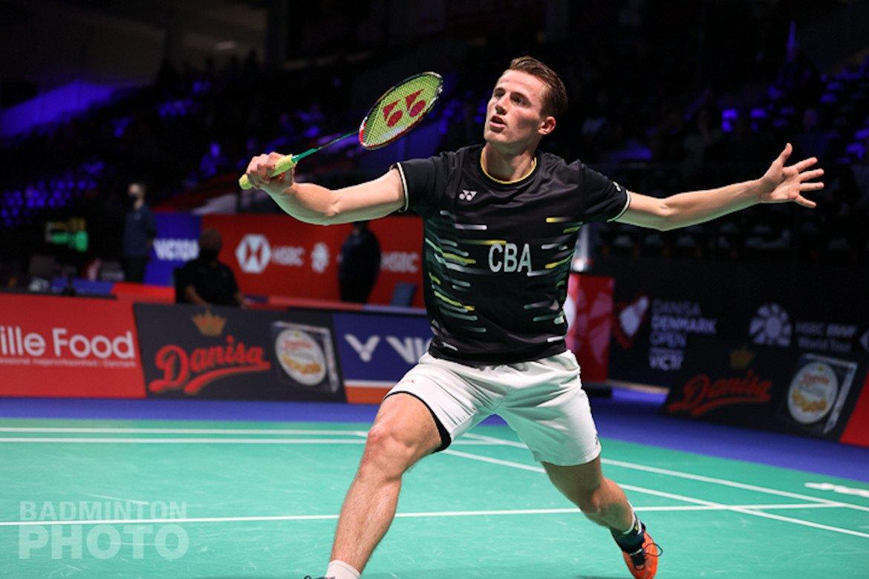 Badmintonner Mark Caljouw door naar achtste finales Denmark Open 2020