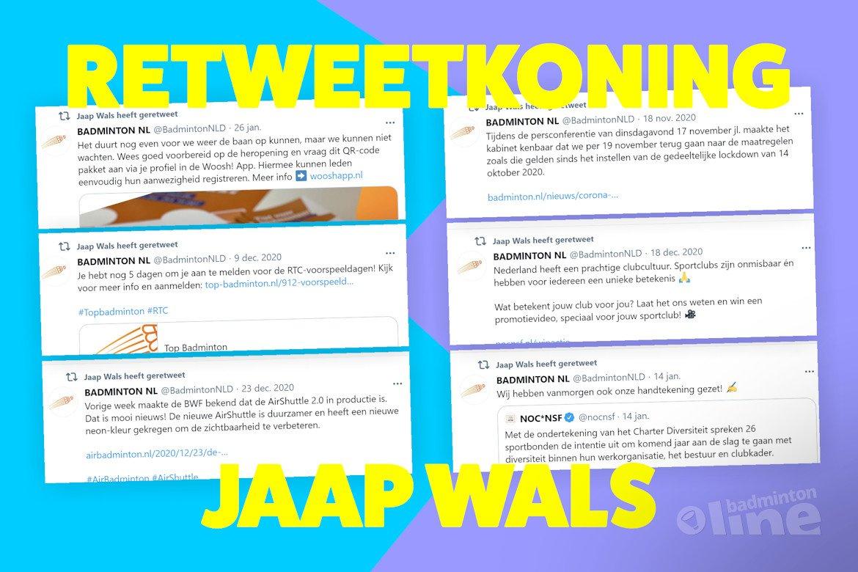 Wat is de rol van Jaap Wals binnen Badminton Nederland?