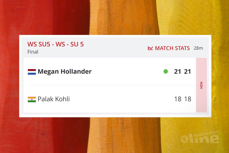 Megan Hollander wint Dubai Parabadminton International