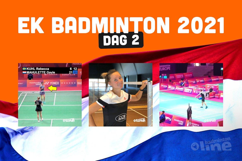 Achtste finales voor singelaars op EK Badminton
