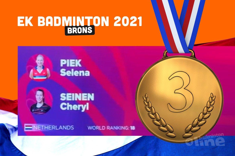 EK Badminton: brons voor Selena Piek en Cheryl Seinen
