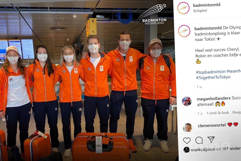 Nederlandse badmintonploeg vol Olympische debutanten vertrokken vanaf Schiphol