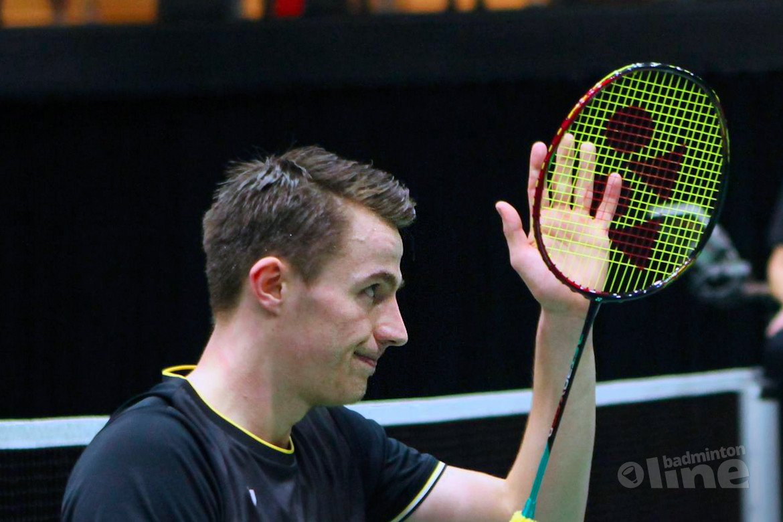 Badmintonner Mark Caljouw loopt kwartfinales in enkelspel net mis