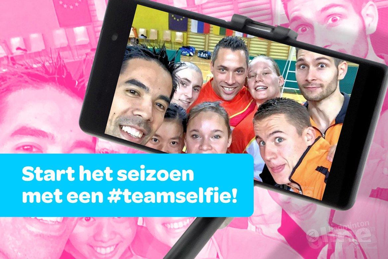 Start het nieuwe badmintonseizoen met een #teamselfie!