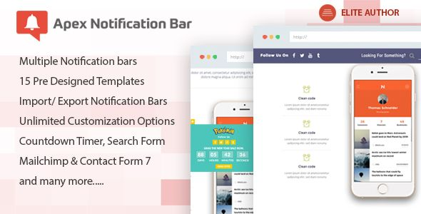 Apex Notification Bar v2.1.4 – 响应式通知栏