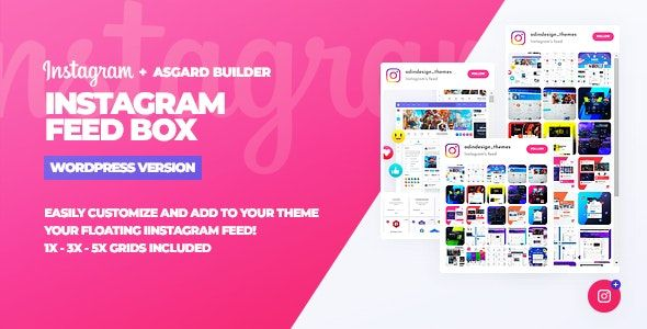 Instagram Feed Box v1.0.0 – WordPress供稿插件