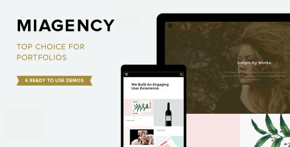 MiAgency – Minimalistic & Flexible Portfolio Theme