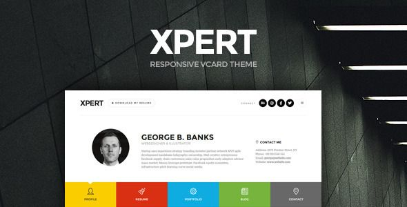 Xpert v1.2.6 – Responsive CV Resume WordPress Theme