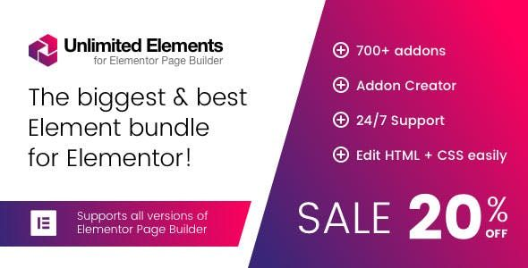 Unlimited Elements for Elementor Page Builder v1.4.28 – 页面生成器无限元素